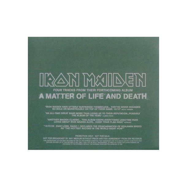 A Matter Of Life And Death - UK 4-track Promotional Issue Only CD Sampler