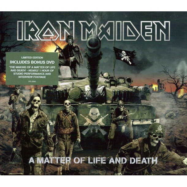 A Matter Of Life And Death  - European pressed Limited Edition 2-disc CD/DVD Issue