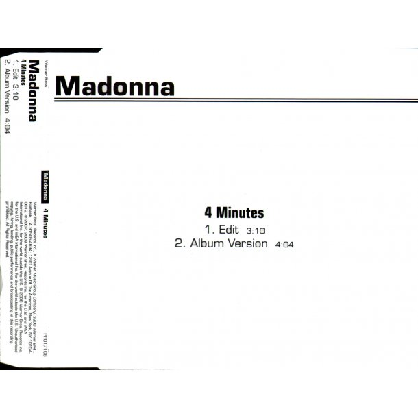 4 Minutes - 2-Track EU Promotional Issue