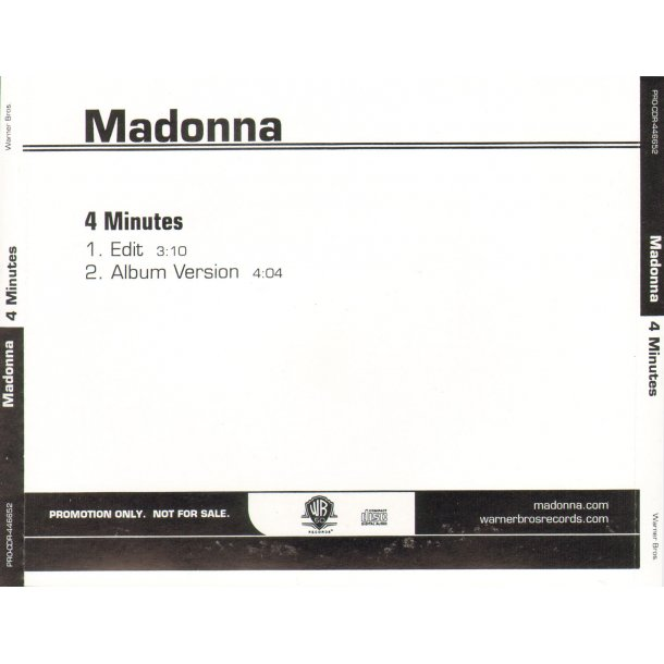 4 Minutes - 2-Track US Promotional Issue