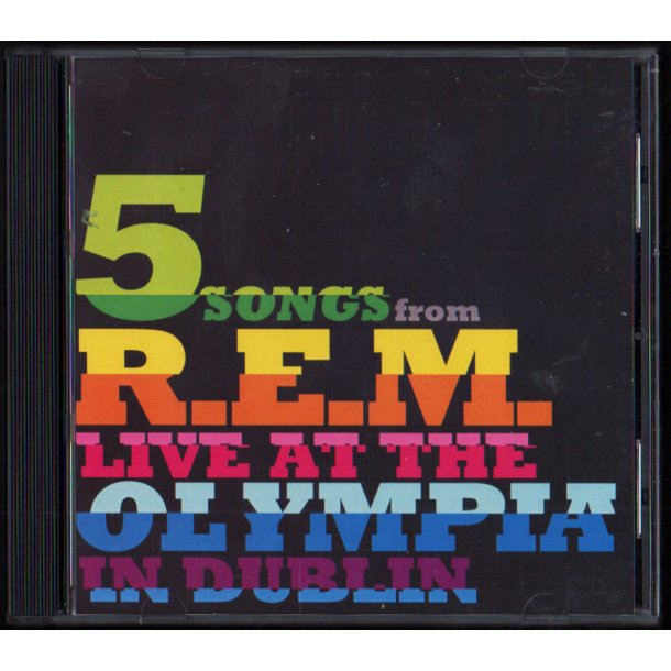 5 Songs From R.E.M. Live At The Olympia - 2009 European 5-track Promotional Issue CD Acetate
