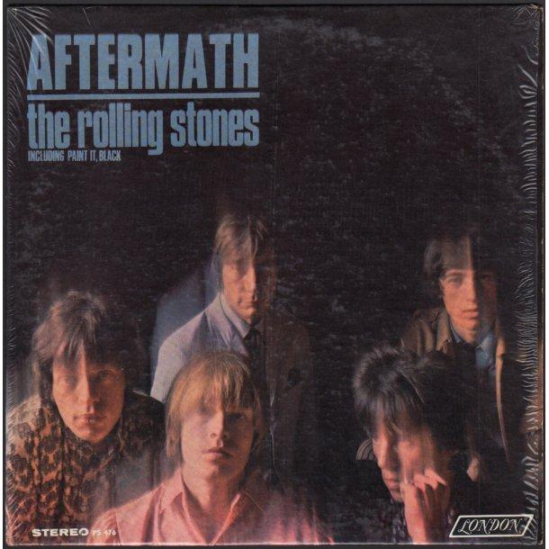 Aftermath - Original 1966 US London label 11-track Stereo LP - Dark Blue Boxed Logo Labels