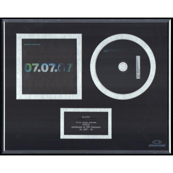 07.07.07. - Authentic 2007 Danish Copenhagen label Platinum CD Award
