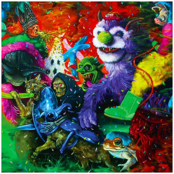 A Laughing Death In Meatspace - 2018 European Joyfull Noise Recordings Green Vinyl 9-track LP